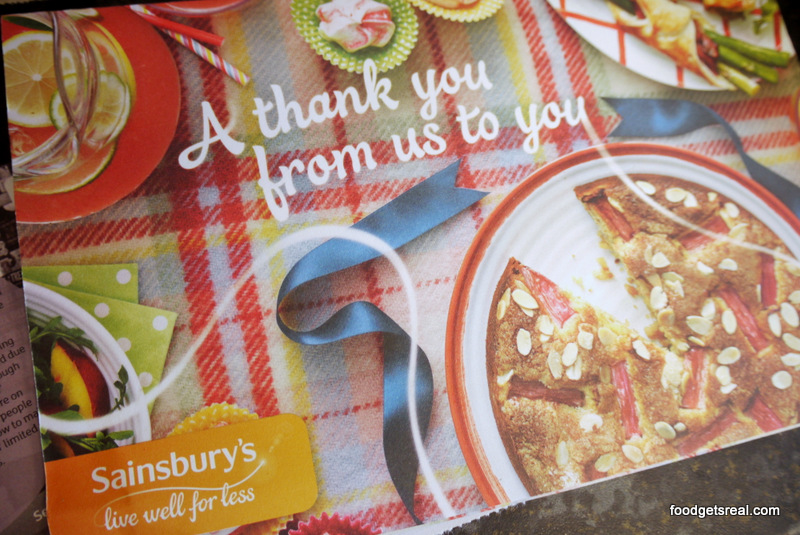 A thankyou from Sainsbury's that's nice