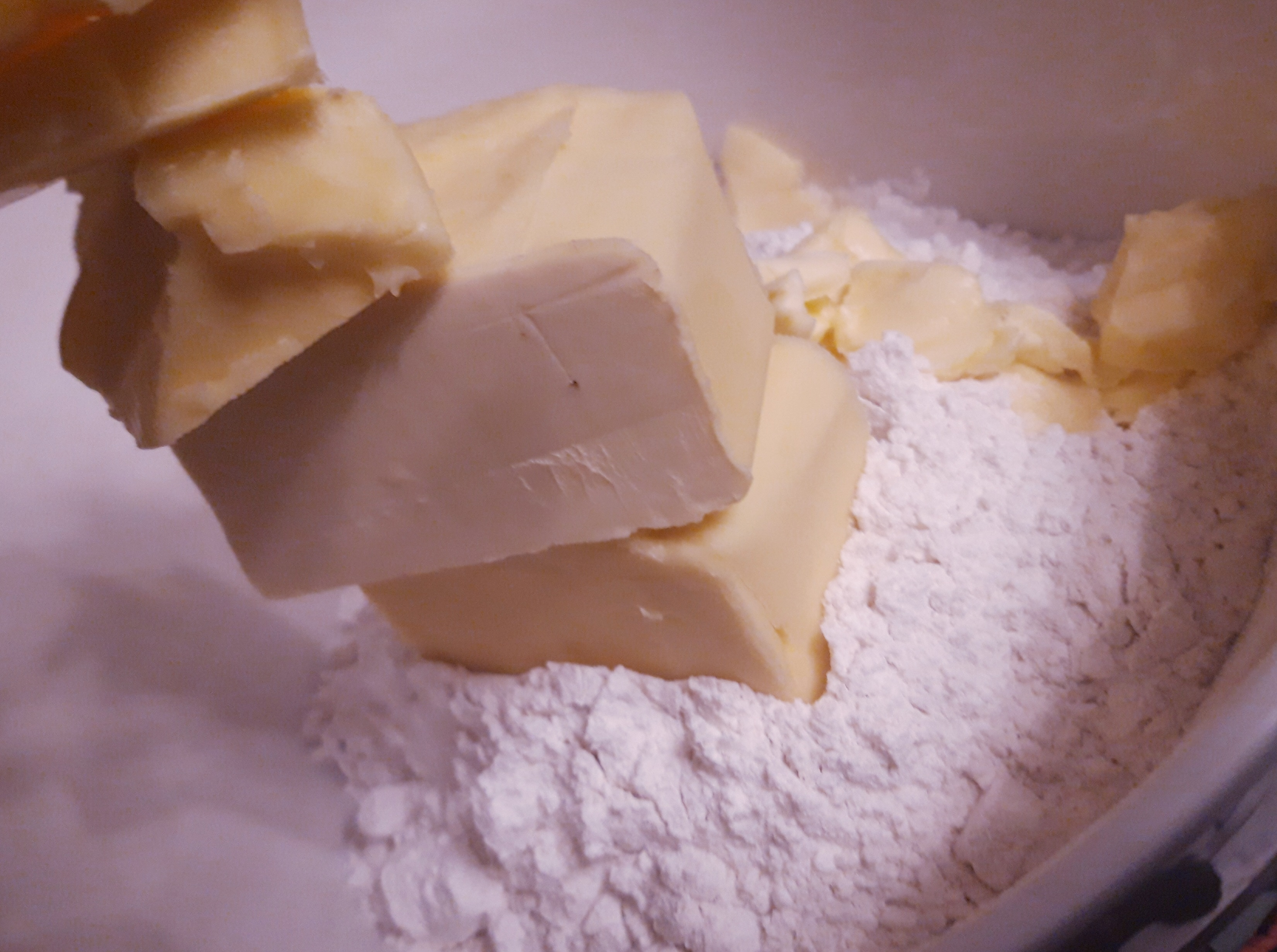 Measuring ingredients for pastry