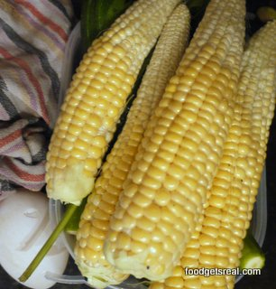 home grown corn cobs taste better